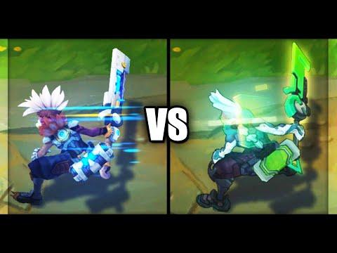 Pulsefire Ekko vs PROJECT Ekko Epic Skins Comparison (League of Legends)