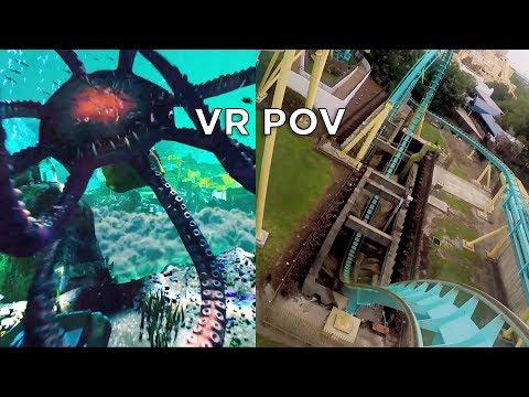 Kraken Unleashed VR POV Side-by-Side Comparison at SeaWorld Orlando