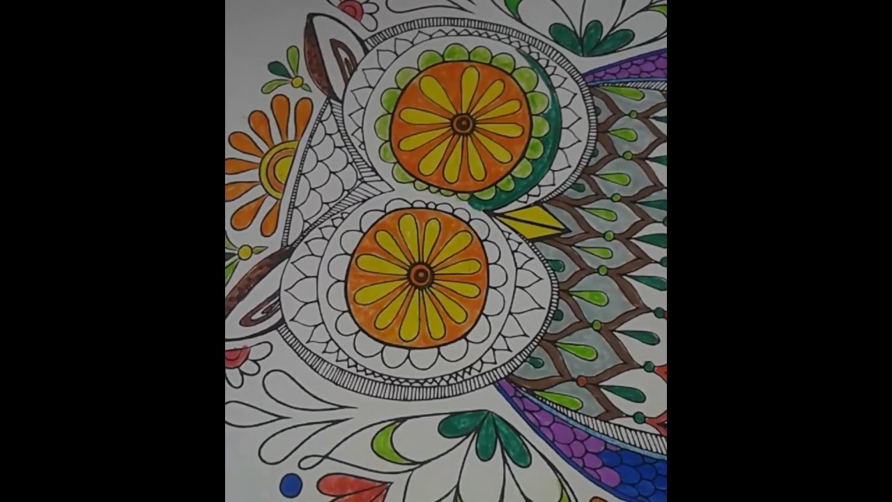 Adult Coloring Page Owl