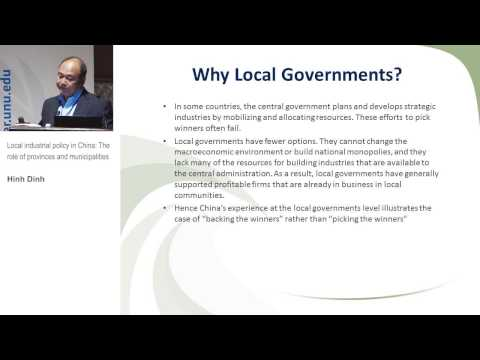 TIS Conference - Local industrial policy in China: The role of provinces and municipalities (3.1)