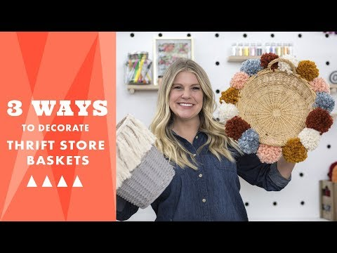 3 Ways to Decorate Thrift Store Baskets - HGTV Handmade