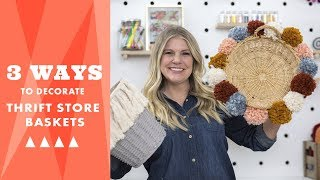 3 Ways To Decorate Thrift Store Baskets   Hgtv Handmade