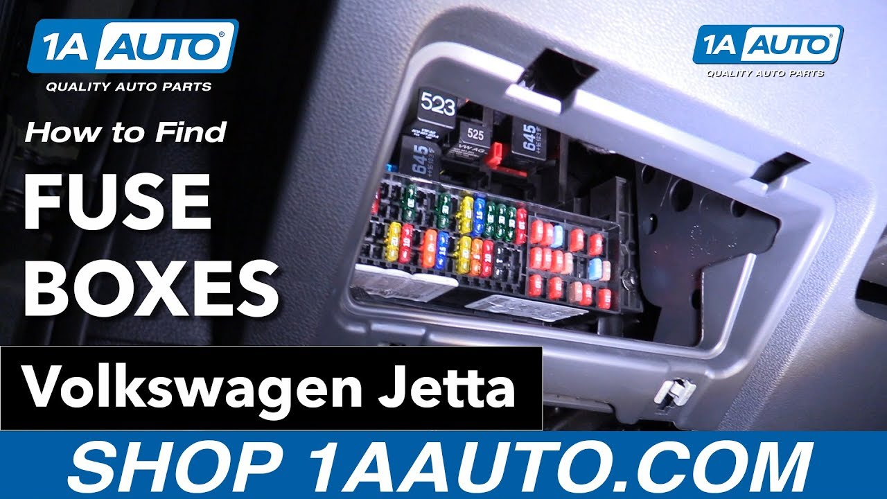 how to find fuses 11 18 volkswagen jetta youtube how to access the fuse box in a volkswagen [ 1280 x 720 Pixel ]