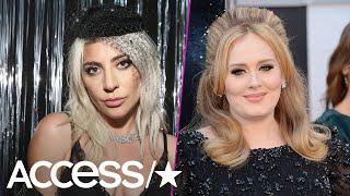 Lady Gaga & Adele Took A Smoke Break Together At Mark Ronson's Grammy Party | Access
