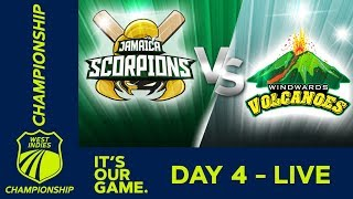 Jamaica v Windwards - Day 4 | West Indies Championship | Monday 7th January 2019