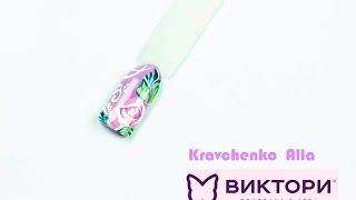 Экспресс-дизайн гель-лаком. Рисуем розы вместе с Компанией Виктори и Аллой Кравченко. ibd и EzFlow(Видео-урок демонстрирует пошаговое выполнени очень красивого и нежного дизайна ногтей гелевыми лаками..., 2016-07-04T17:25:13.000Z)