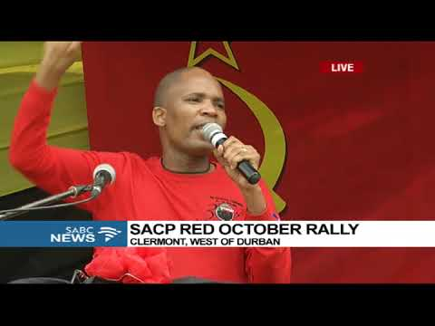 Blade Nzimande address speech at SACP RED OCTOBER RALLY