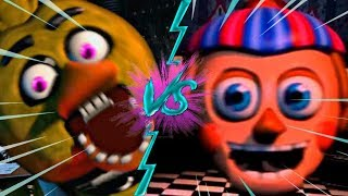 CHICA VS BB - La Liga de FNAF | FIVE NIGHTS AT FREDDY ULTIMATE CUSTOM NIGHT J2
