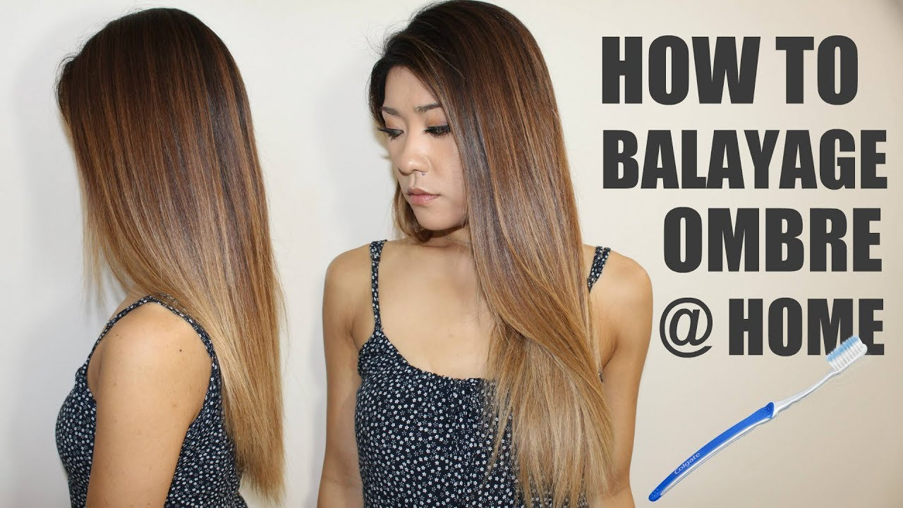 Diy Easy Balayage Ombre At Home With A Toothbrush Youtube