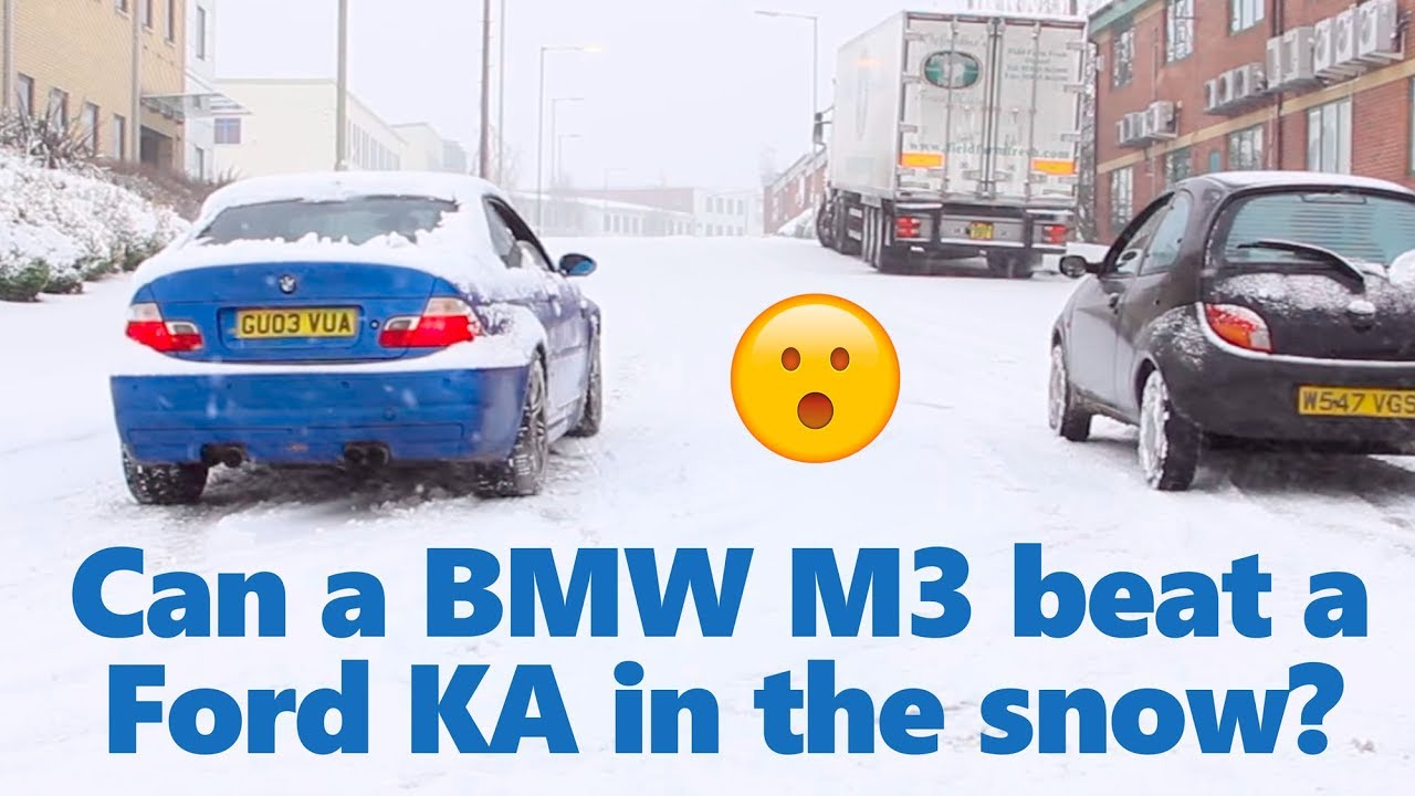 Bmw m3 rwd vs other cars in a snow race winter tyre vs summer tyres youtube