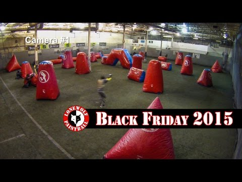 Raw Unedited Black Friday Game Footage Camera 1 Lone Wolf Paintball Michigan