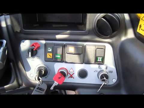 Dieci Agri Tech telehandler dash / operator control station features