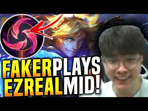 Faker Tries New Hail Of Blades Ezreal Mid! - When Faker Picks Ezreal Mid! | SKT T1 Replays