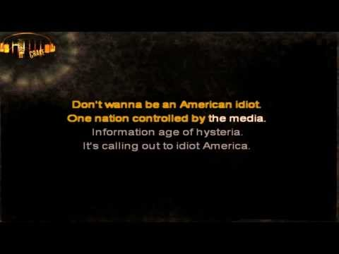 Green Day - American Idiot karaoke