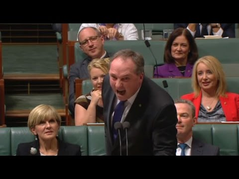 "Australian Deputy Prime Minister Barnaby Joyce screams ""carp"" & ""mud-sucking creatures"""