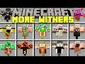 Minecraft MORE WITHERS MOD l SPAWN 100+ NEW DIAMOND, EMERALD WITHER BOSSES! l Modded Mini-Game