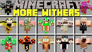 Minecraft MORE WITHERS MOD l NOOB vs PRO WITHERS in MINECRAFT! l Modded Mini-Game