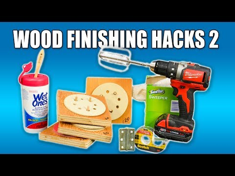 5 Quick Wood Finishing Hacks PART 2 - Woodworking Tips and Tricks