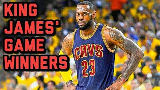 LEBRON JAMES GAME WINNERS COMPILATION