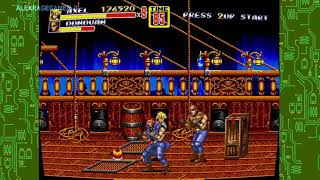 Sega genesis classics collection streets of rage 2 grand uppercut enemies on foot