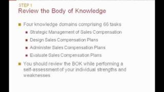 Certified Sales Compensation Professional™