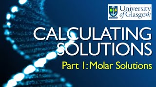 preparing solutions part 1 calculating molar concentrations