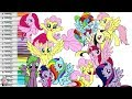 My Little Pony Color Swap Coloring Book Compilation Pinkie Pie Rarity Rainbow Dash Fluttershy