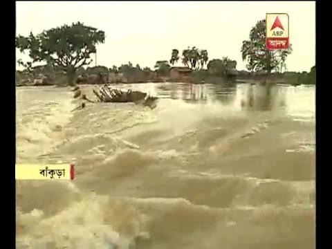 As DVC released water a vast area of Bankura flooded