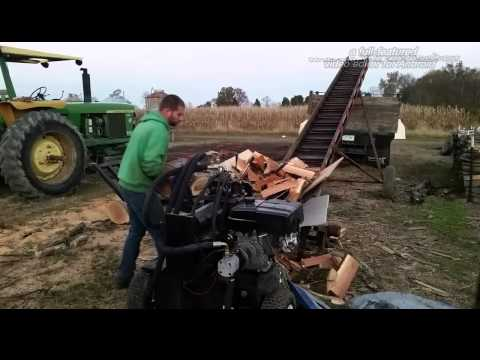 fast log splitter - 1/2 of a homemade wood processor
