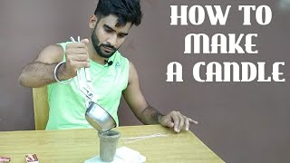 मोमबत्ती कैसे बनाए || how to make a candle at home