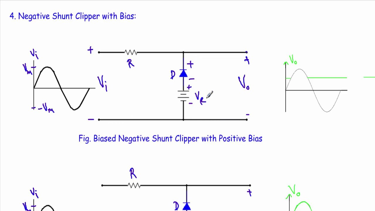 small resolution of biased negative clipper circuit