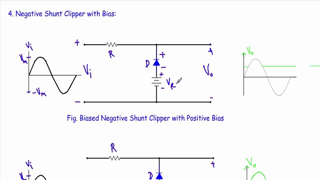 biased negative clipper circuit [ 1280 x 720 Pixel ]