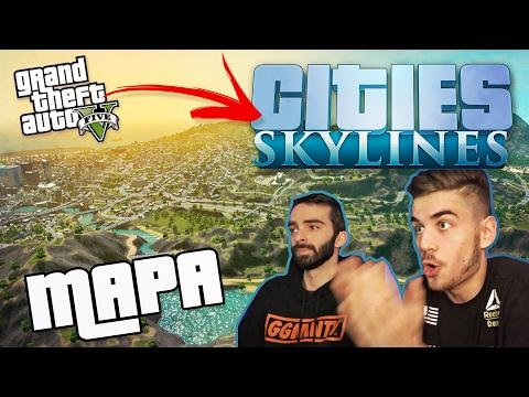 CITIES SKYLINES - GTA V MAPA + MOJE MESTO!