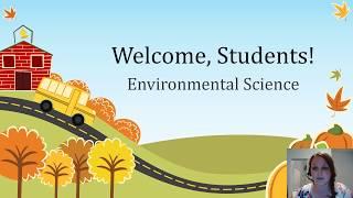 Orientation Environmental Science  2018