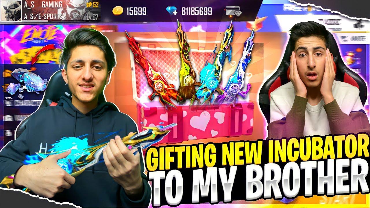 Gifting New Mythos M60 Incubator To My Brother 😍💎 Rip My 10,000 Diamonds - Garena Free Fire
