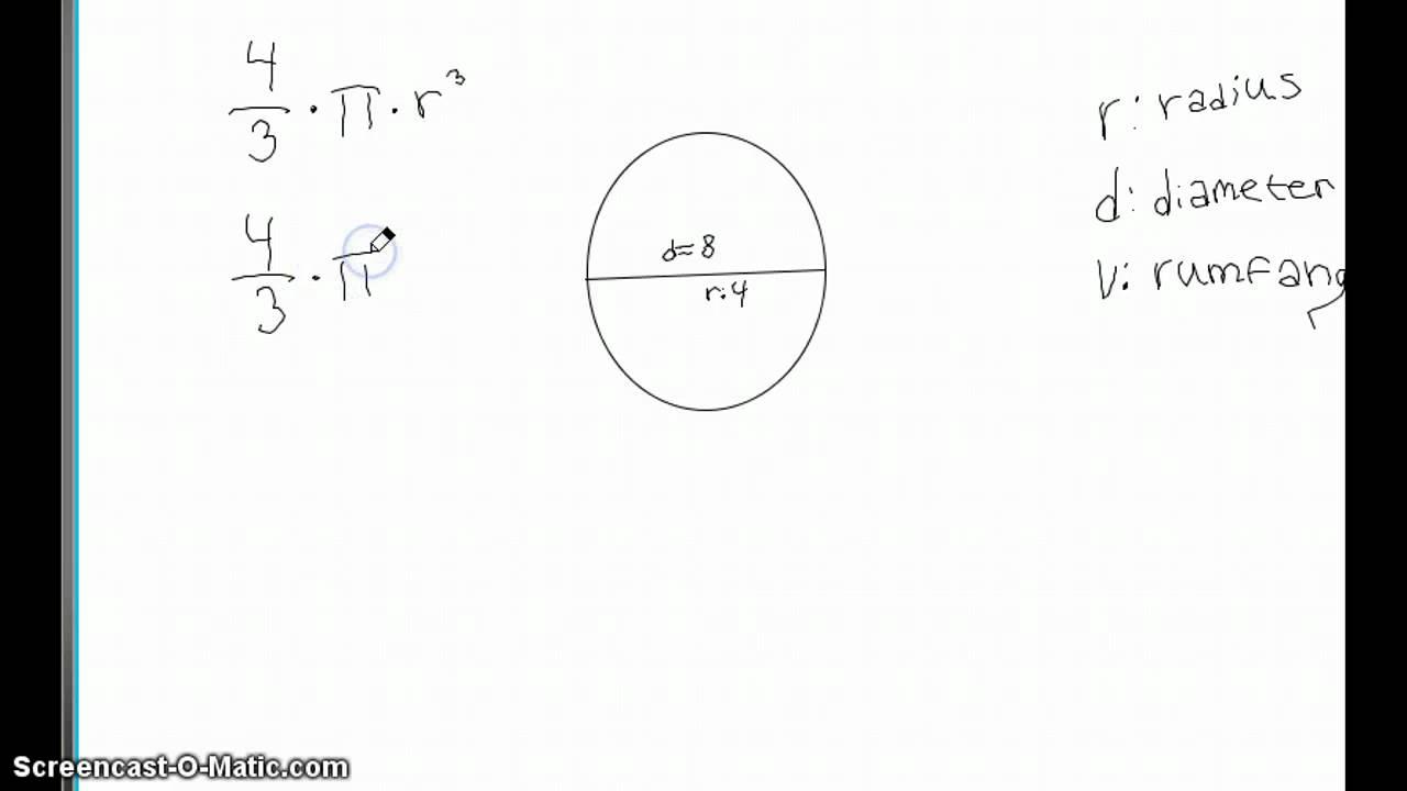 Hvordan man finder rumfanget af en kugle