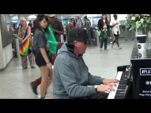 Sad Piano Music:   Improv at the Street Piano (Dr K)