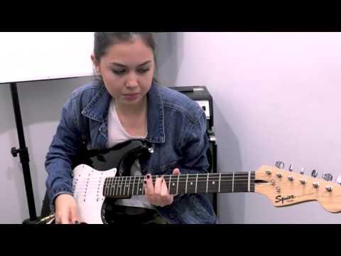 Music Lab guitar student Samantha