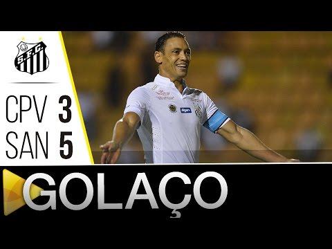 Capivariano 3 x 5 Santos | GOLAÇO DO RICARDO OLIVEIRA | Paulistão (03/04/16)