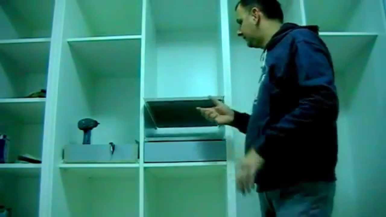 Convertir una balda fija en extraible youtube for Guias para baldas