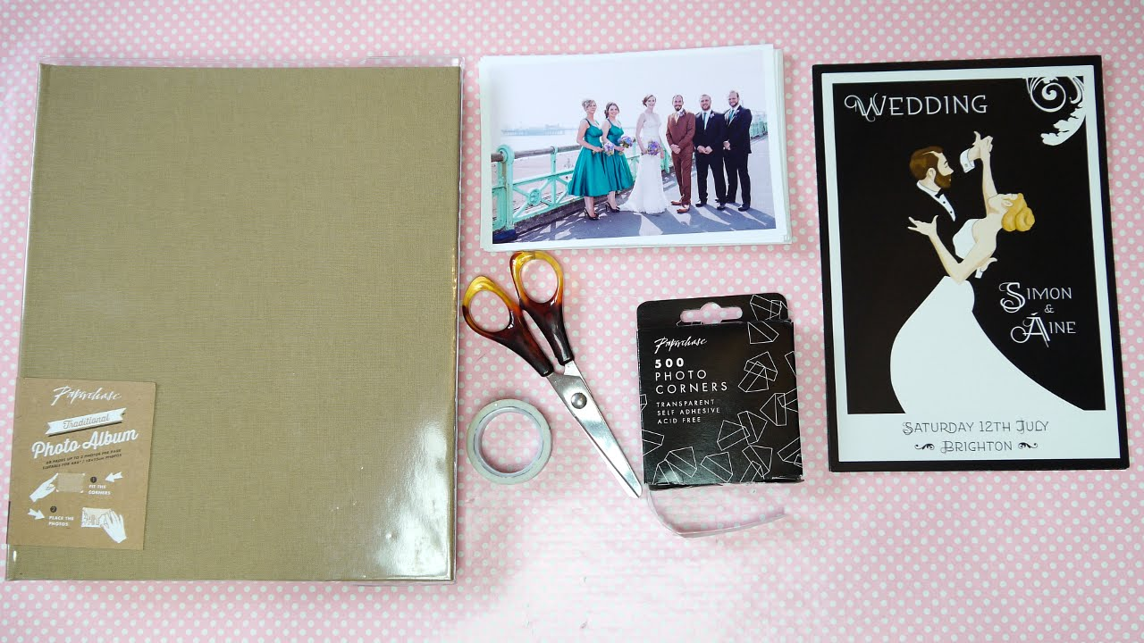 Diy Wedding Album Guest Book Youtube