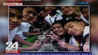Teacher, namigay ng tsokolate at nagpa-boodle fight pa sa mga estudyante pagkatapos ng exams