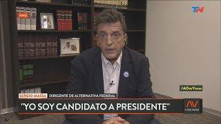 "Massa y la fórmula Alberto Fernández - Cristina Kirchner: ""Yo soy candidato a presidente"""