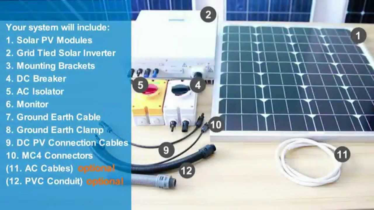 How To Install A Home On Grid Solar Power System Leading Energy Diagram Inverter Ac Wiring Youtube Premium