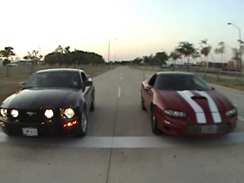 1995 Camaro Lt1 Z28 Vs 2008 Mustang Gt Youtube