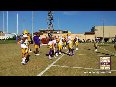 LSU Spring Practice March 15, 2018