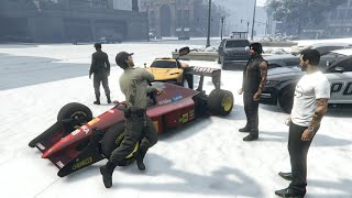 YouTube動画:🚔 Special April Fool's BUSTED SNOW DAY On GTA 5