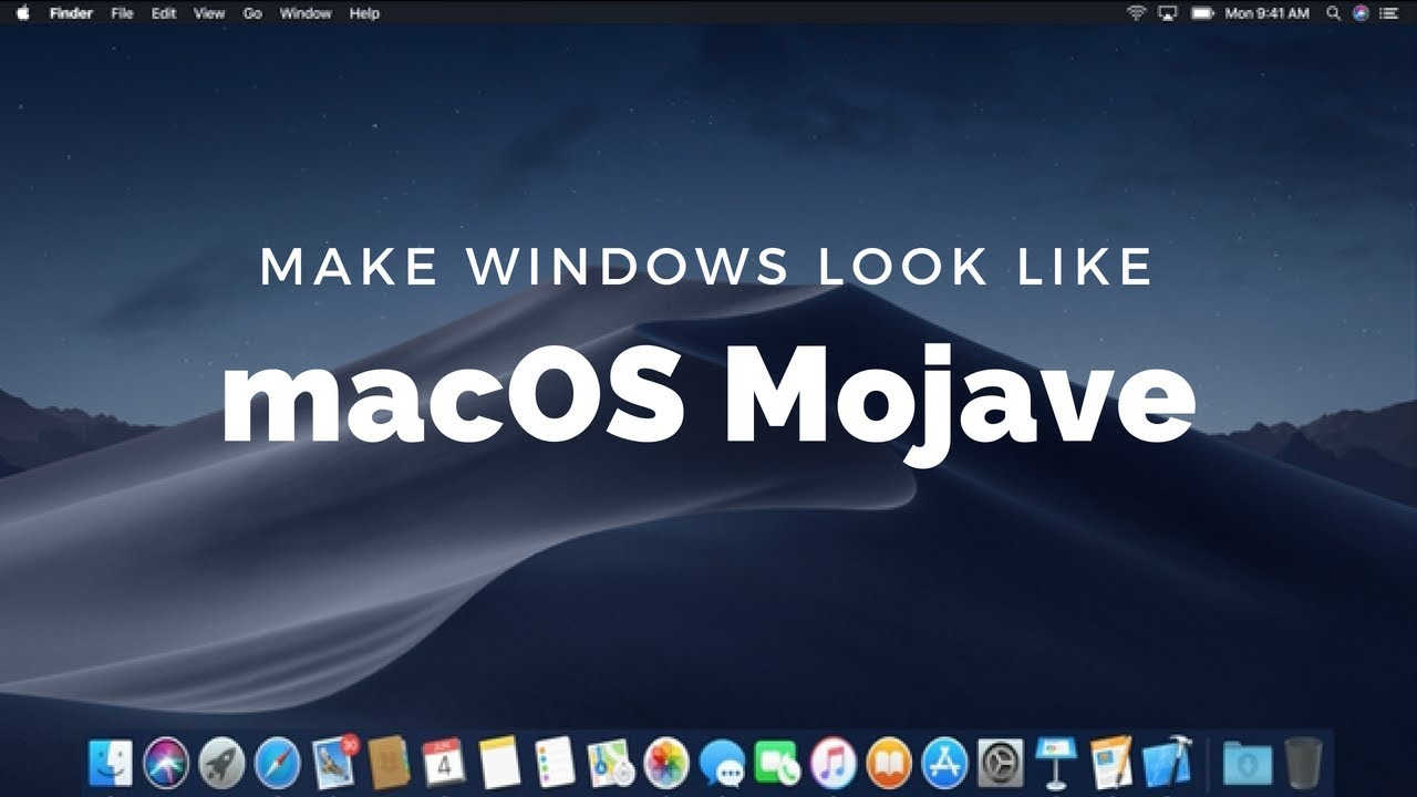 Make Windows 10 Look Like macOS Mojave