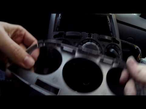 Замена лампочек в блоке управления печкой на Opel Corsa D