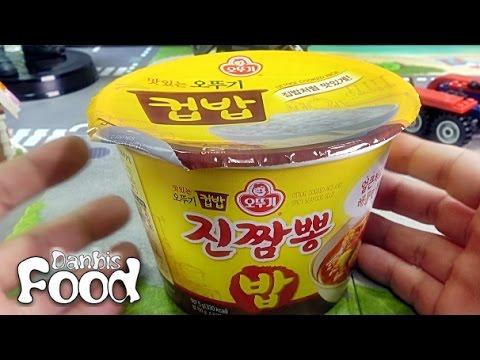 오뚜기 컵밥 진짬뽕 밥, 라면 면발대신에 햇반 밥이 들어간 제품 시식기